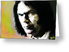 Neil Young Portrait  Greeting Card