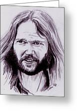 Neil Young Greeting Card by Toon De Zwart