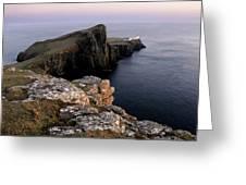 Neist Point Lighthouse, Isle Of Skye, Scotland Greeting Card