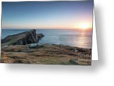 Neist Point Sunset Greeting Card