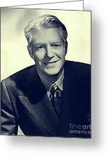 Nelson Eddy, Vintage Actor Greeting Card