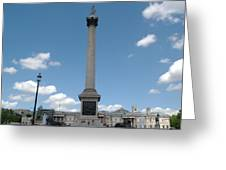 Nelsons Column Greeting Card