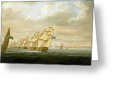 Nelson's Inshore Blockading Squadron At Cadiz, July 1797 Greeting Card