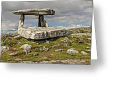 Neolithic Teleport - Portal Tomb In The Burren Greeting Card