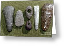 Neolithic Tools Greeting Card