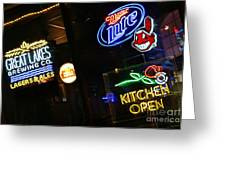 Neon Bar Signs Greeting Card