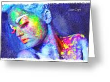 Neon Beauty Greeting Card