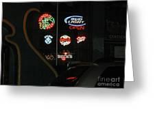 Neon Beer Greeting Card