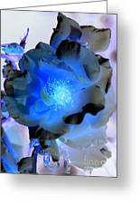 Neon Blue Greeting Card