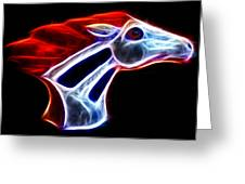 Neon Bronco Greeting Card