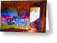 Neon Bunkers Greeting Card