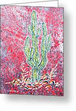 Neon Cactus Greeting Card