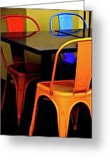 Neon Chairs 1 Greeting Card