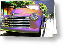 Neon Chev Greeting Card