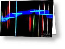 New Orleans Neon Christmas Frequency Abstract 1  Greeting Card