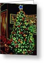 Neon Christmas Tree Greeting Card