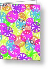 Neon Circles Greeting Card