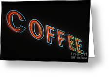 Neon Coffee Greeting Card