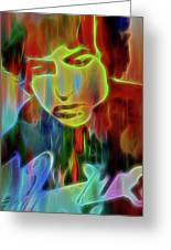 Neon Color Bob Dylan Greeting Card
