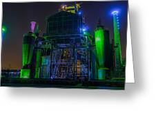 Neon Color Machinery Greeting Card
