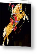 Neon Cowboy Greeting Card