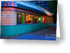 Neon Diner Greeting Card by Crystal Nederman