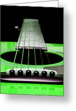Neon Green Guitar 18 Greeting Card