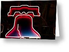 Neon Liberty Greeting Card
