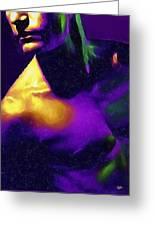 Neon Lights Man Greeting Card
