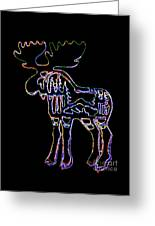 Neon Moose Greeting Card