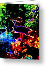 Neon Nature  Greeting Card