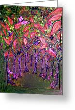 Neon Night In Bloom Greeting Card