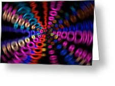 Neon Rave Blur Greeting Card
