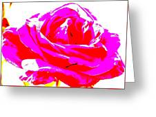 Neon Rose Greeting Card by Dana Patterson