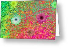 Neon Spring Greeting Card