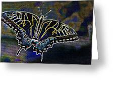Neon Swallowtail Butterfly Greeting Card