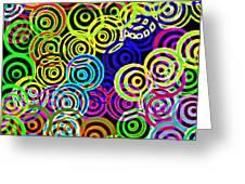 Neon Swirls Greeting Card