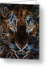 Neon Tigress Greeting Card
