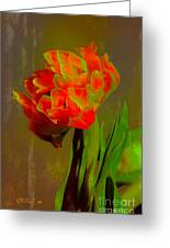 Neon Tulip Greeting Card