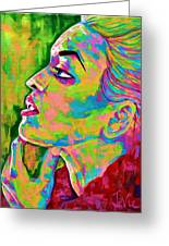 Neon Vibes Painting Greeting Card