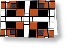 Neoplasticism Symmetrical Pattern In Tijuna Gamboge Greeting Card