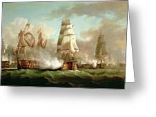 Neptune Engaging Trafalgar Greeting Card by J Francis Sartorius