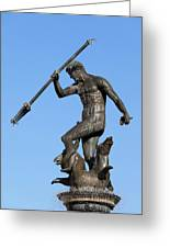 Neptune Statue In Gdansk Greeting Card