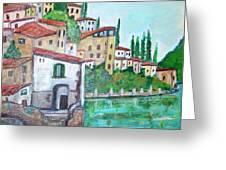 Nesso Village In Lake Como Greeting Card