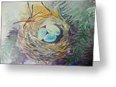 Nest In The Ferns Greeting Card