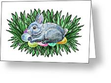 Nesting Easter Bunny Greeting Card