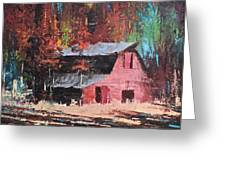 Nestled In The Pines Greeting Card