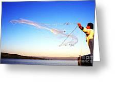 Net Fishing Sea Of Galilee Greeting Card