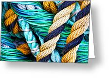 Nets And Knots Number Five Greeting Card by Elena Nosyreva