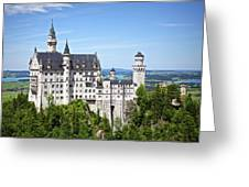 Neuschwanstein Castle Of Germany Greeting Card